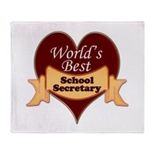 Funny School secretaries Throw Blanket