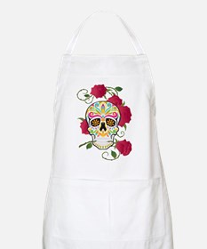 Rose Sugar Skull Apron