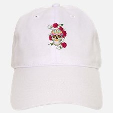 Rose Sugar Skull Baseball Baseball Cap