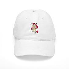 Rose Sugar Skull Baseball Cap