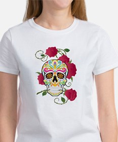 Rose Sugar Skull Women's T-Shirt