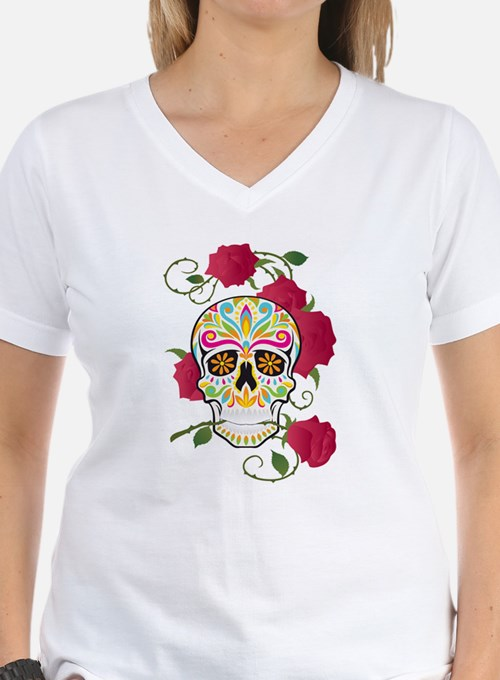 Rose Sugar Skull Shirt