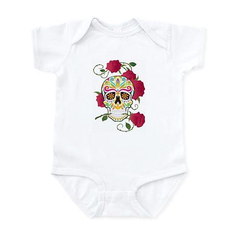 Rose Sugar Skull Infant Bodysuit