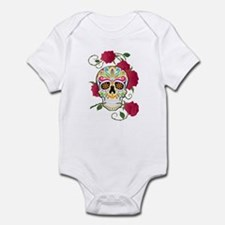 Rose Sugar Skull Infant Bodysuit