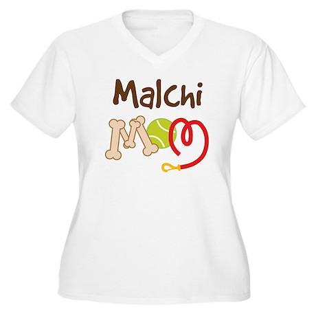 Malchi Dog Mom Women's Plus Size V-Neck T-Shirt