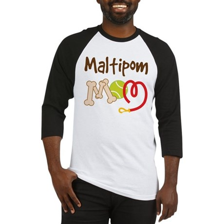 Maltipom Dog Mom Baseball Jersey