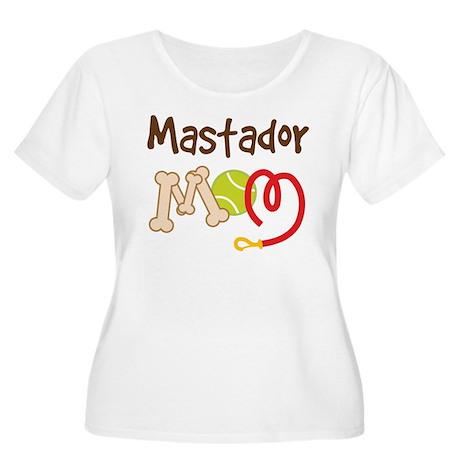 Mastador Dog Mom Women's Plus Size Scoop Neck T-Sh