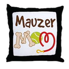 Mauzer Dog Mom Throw Pillow