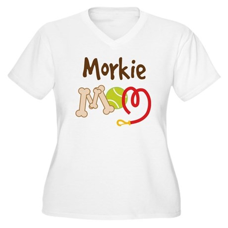 Morkie Dog Mom Women's Plus Size V-Neck T-Shirt