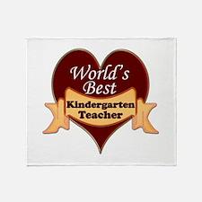 Cool Best kindergarten teacher Throw Blanket