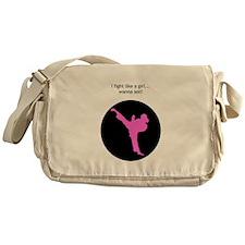 fight like a girl- with circle.jpg Messenger Bag