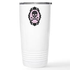Skull and Crossbones Cameo Travel Mug
