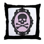 Skull and Crossbones Cameo Throw Pillow