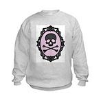 Skull and Crossbones Cameo Kids Sweatshirt