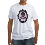 Skull and Crossbones Cameo Fitted T-Shirt