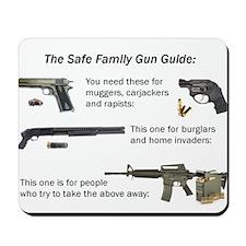 Safe Family Gun Guide Mousepad