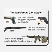 Safe Family Gun Guide Mousepad