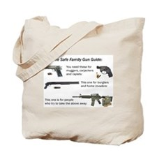 Safe Family Gun Guide Tote Bag