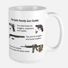 Safe Family Gun Guide Large Mug