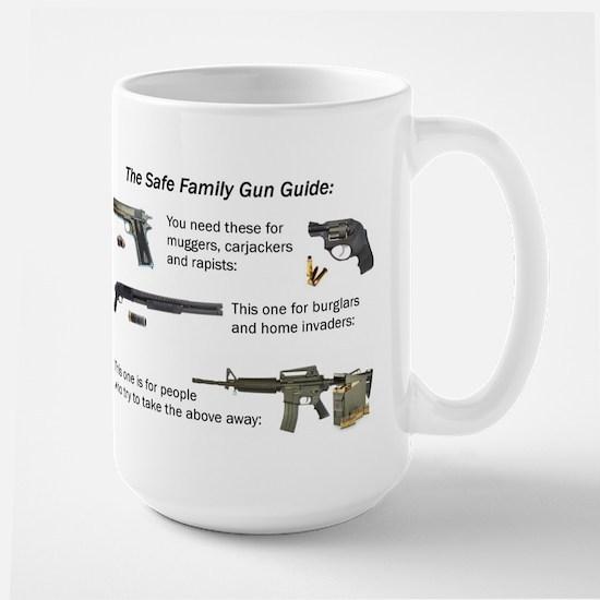 Safe Family Gun Guide Large Mug
