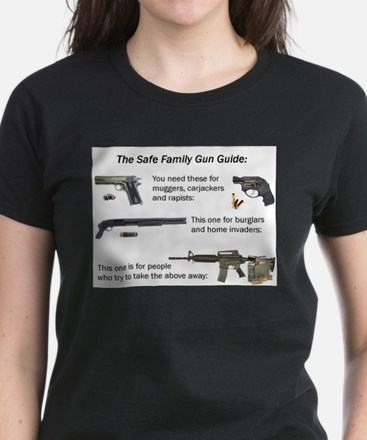 Safe Family Gun Guide Women's Dark T-Shirt