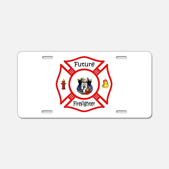 Future Firefighter Red Aluminum License Plate