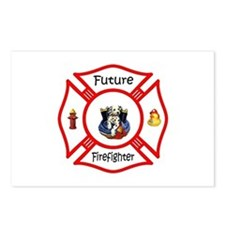 Future Firefighter Red Postcards (Package of 8)