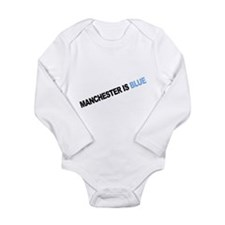 Cute Man city Long Sleeve Infant Bodysuit