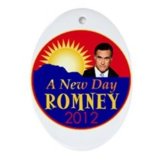 Romney 2012 Ornament (Oval)