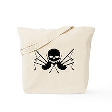 Skull & Crossdrones, Black Tote Bag