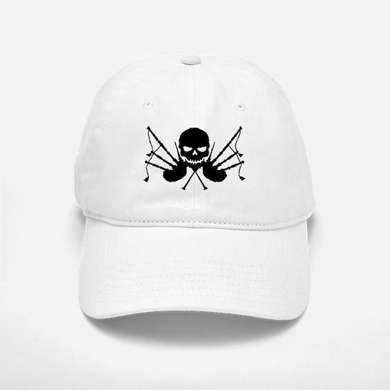 Skull & Crossdrones, Black Baseball Baseball Cap