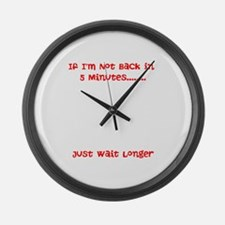 Cool Minutes Large Wall Clock