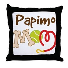 Papimo Dog Mom Throw Pillow