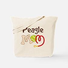 Peagle Dog Mom Tote Bag