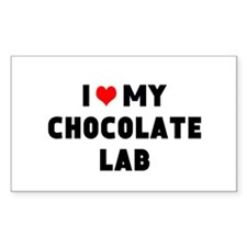 I 3 my chocolate lab Decal