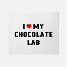 I 3 my chocolate lab Throw Blanket