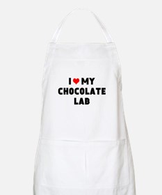 I 3 my chocolate lab Apron