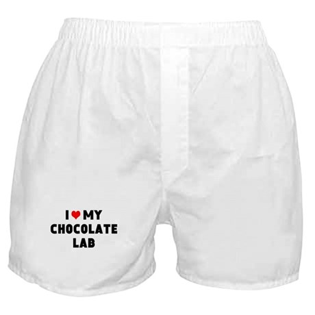 I 3 my chocolate lab Boxer Shorts