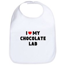 I 3 my chocolate lab Bib