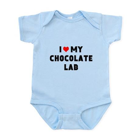 I 3 my chocolate lab Infant Bodysuit