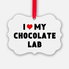 I 3 my chocolate lab Ornament