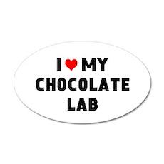 I 3 my chocolate lab Wall Decal