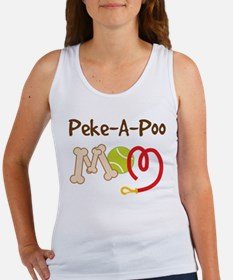 Peke-A-Poo Dog Mom Women's Tank Top