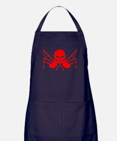Skull & Crossdrones, Blood Red Apron (dark)