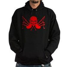 Skull & Crossdrones, Blood Red Hoodie