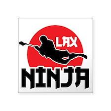 "Lacrosse Ninja Square Sticker 3"" x 3"""