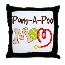 Pom-A-Poo Dog Mom Throw Pillow