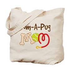 Pom-A-Pug Dog Mom Tote Bag