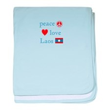 Peace, Love and Laos baby blanket