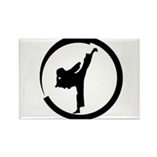 Tang Soo Do girl in circle Rectangle Magnet